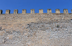 Castle battlements Stock Photography