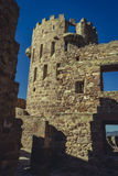 Castle with battlements and walls of red stones, Villafamés rur Royalty Free Stock Photos