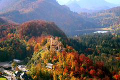 Castle in Bavaria. Old Hohenschwangau Castle In Bavaria Germany stock photo