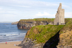Castle beach and cliffs in Ballybunion Royalty Free Stock Photos