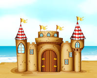 A castle at the beach Royalty Free Stock Photo