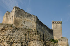 Castle of Beaucaire in Gard Stock Photos