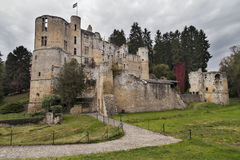 Castle of Beaufort Stock Photography