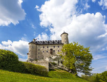 Castle in a beautiful day, Bobolice, Poland Stock Image