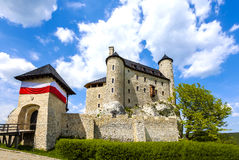 Castle in a beautiful day, Bobolice, Poland Stock Photography