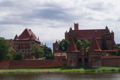 Castle. Beautiful view of the castle in Malbork Royalty Free Stock Image