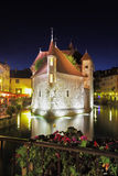 Castle is beautifully reflected in the dark water Stock Photos