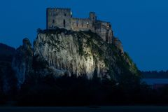 Castle Beckov σε Slowakia στοκ φωτογραφία