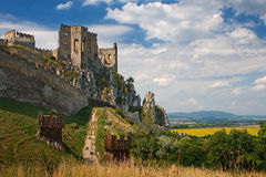 Castle Beckov royalty free stock images