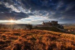 Castle Beckov. National monument Castle Beckov in Slovakia Royalty Free Stock Photo
