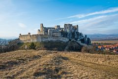 The castle of Beckov stock photo