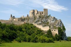 Castle Beckov Stock Images