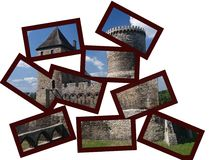 Castle in Bedzin in frams. Stock Images