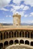 Castle Bellver in Majorca royalty free stock photography