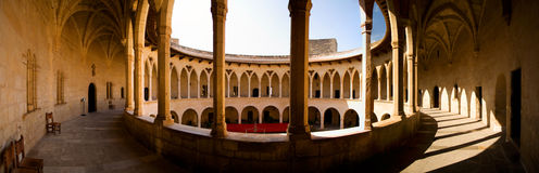 Castle of Bellver Mallorca. Panorama of the castle of Bellver Mallorca Royalty Free Stock Photos