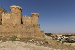 Castle of Belmonte in Cuenca. Stock Photography