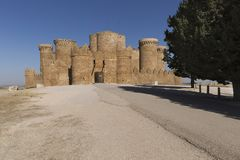 Castle of Belmonte in Cuenca. Royalty Free Stock Photos