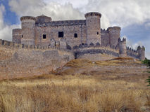 Castle of Belmonte, Cuenca, Spain. Belmonte Castle stands on the hill of San Cristobal, near the town of Belmonte, in the province of Cuenca. Dates from the Royalty Free Stock Photos