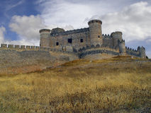 Castle of Belmonte, Cuenca, Spain. Belmonte Castle stands on the hill of San Cristobal, near the town of Belmonte, in the province of Cuenca. Dates from the Royalty Free Stock Image