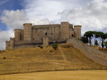 Castle of Belmonte, Cuenca, Spain. Belmonte Castle stands on the hill of San Cristobal, near the town of Belmonte, in the province of Cuenca. Dates from the Royalty Free Stock Images