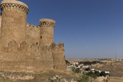 Castle of Belmonte in Cuenca. Stock Images