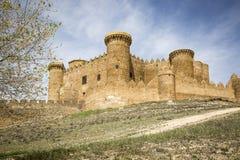 Castle in Belmonte town, province of Cuenca, Castilla La Mancha, Spain Stock Images