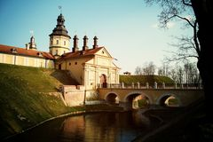 Castle in Belorussian. Bautiful Castle in Belorussian in Nesvizh stock photography