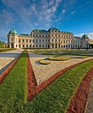 Castle Belvedere. View on the Castle Belvedere in Vienna Royalty Free Stock Photography