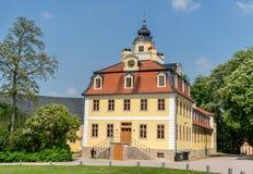 Castle Belvedere in Weimar in summer. Castle Belvedere in Weimar in Germany stock photography