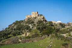 Castle at Belvis de Monroi, Estremadura, Spain Royalty Free Stock Photo