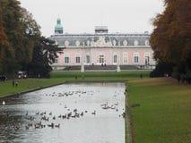 Castle Benrath (Back). Germany, Dusseldorf 2014 Stock Image