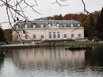 Castle Benrath (Front). Germany, Dusseldorf 2014 Royalty Free Stock Photography