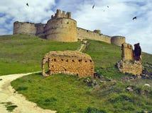 Castle of Berlanga de Duero, Soria, Spain. View of the Castle from the village of Berlanga de Duero Stock Photo
