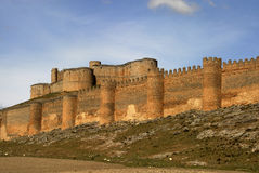 Castle of Berlanga del Duero in Soria. Spain Royalty Free Stock Photography