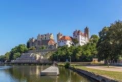 Castle in Bernburg, Germany. View of Renaissance castle in Bernburg, Germany stock images
