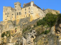 Castle, Beynac-et-Cazenac (France ). View of castle Beynac in Dordogne in the Black Perigord built on the edge of the cliff Stock Image