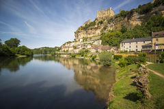 Castle of Beynac stock photography