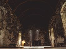 Castle big room without people. Scotland royalty free stock photo