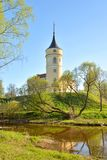 Castle Bip in Pavlovsk. View of the Castle Mariental or Bip the reence of emperor Paul I in Pavlovsk on the outskirts of St. Petersburg, Russia Royalty Free Stock Image