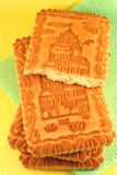 Castle biscuits. Close-up biscuits over napkins Stock Images