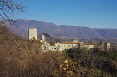 The castle of the bishop. This castle is the home of the Bishop of Vittorio Veneto since the medieval age, when the bishop was the lord of all the surrounding stock photo