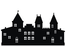Castle, black icon Royalty Free Stock Photo