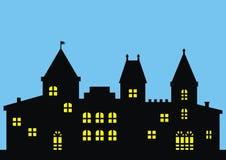 Castle, black icon Stock Photography