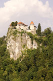 Castle in Bled. Castle on the hill in Bled, Slovenia Stock Photo