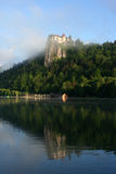 Castle on Bled Lake Stock Photography