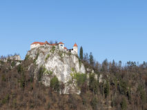 The castle of Bled Royalty Free Stock Image