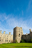 Castle with blue sky background. Historic English castle with blue sky. This is Windsor Castle, the oldest and largest occupied castle in the world and home to Royalty Free Stock Photography