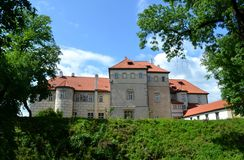 Castle and blue sky. A castle from Czech republic Stock Image