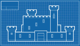 Castle Blueprint Royalty Free Stock Photo