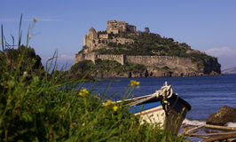 Castle and boat Royalty Free Stock Images